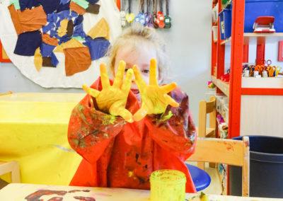 Kreativbereich im Kindergarten
